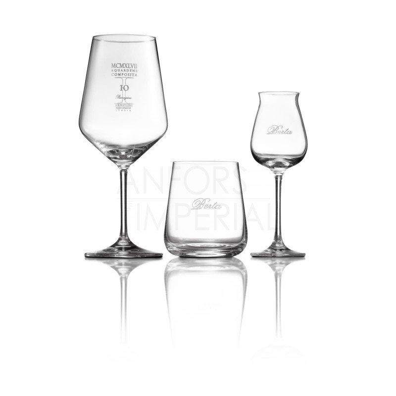 Glazen op voetje Distillerie Berta