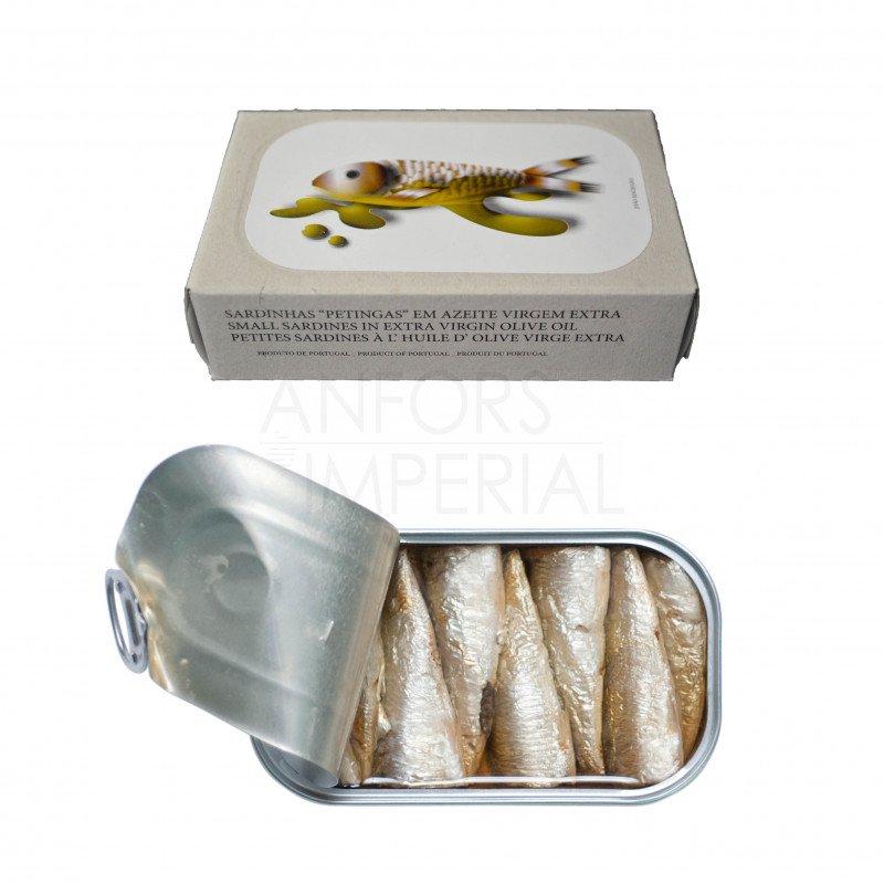 Kleine sardines in extra vierge olijfolie